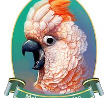 Moluccan Cockatoo realistic painting by lifewithbirds