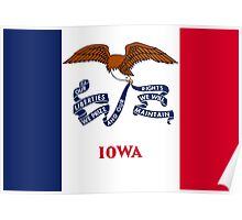 State Flags of the United States of America -  Iowa Poster