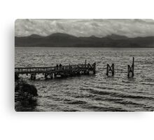 Jetty at Sarah Island, Tasmania, Australia Canvas Print