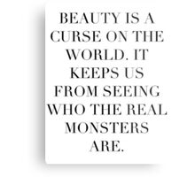 Simplistic Quote - On: Beauty Metal Print