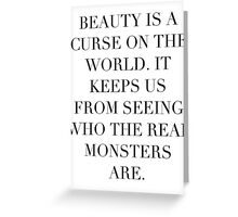 Simplistic Quote - On: Beauty Greeting Card