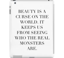 Simplistic Quote - On: Beauty iPad Case/Skin