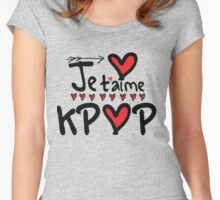 Je T'aime KPOP Women's Fitted Scoop T-Shirt