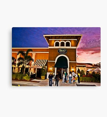 Plaza Canvas Print