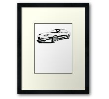 Ford Probe Gt (Front 3/4 View, Model Name)  Framed Print