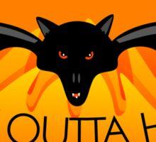 Bat Outta Hell Sticker