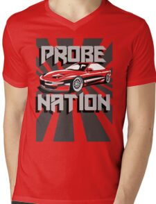 Ford Probe Gt Nation (3/4 View, Perspective Stripes) Mens V-Neck T-Shirt