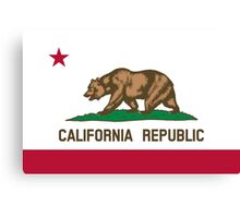 State Flags of the United States of America -  California Canvas Print