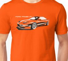 Ford Probe Gt (Front 3/4 View, Model Name)  Unisex T-Shirt