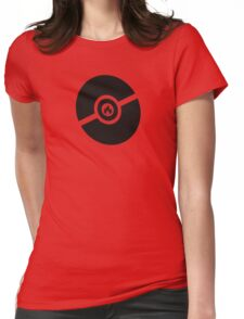 Pokemon Pokeball Fire  Womens Fitted T-Shirt