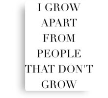 Simplistic Quote - On: Growth Canvas Print