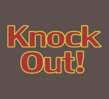 Knock Out T-Shirt Top Sweater Sticker Baby Tee