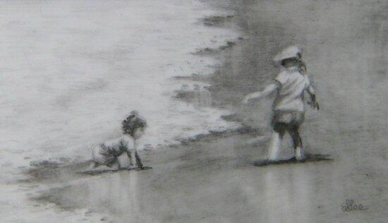 Beach Babies by Fiona  Lee