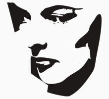 Katharine Hepburn Close Up BW by GraphXninja