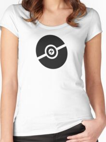 Pokemon Pokeball Electric  Women's Fitted Scoop T-Shirt