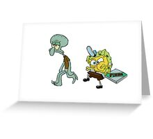 FUNNY SPONGEBOB Greeting Card