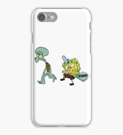 FUNNY SPONGEBOB iPhone Case/Skin