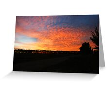 Sunset on the Adelaide Plains Greeting Card