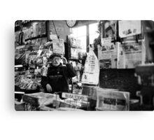 newspaper vender Canvas Print