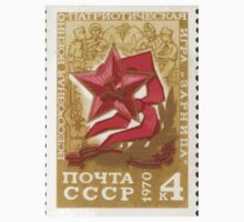 Pioneer Organization of the Soviet Union stamp series 1970 CPA 3925 stamp Red Star Red Scarf and Scenes from Zarnitsa Game USSR One Piece - Long Sleeve