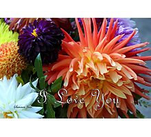 Bouquet of Love ~ Dahlias Photographic Print