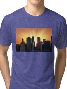 Sunset in New York City Tri-blend T-Shirt