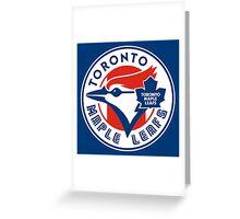 Toronto Maple Jays - Blue Leafs Greeting Card