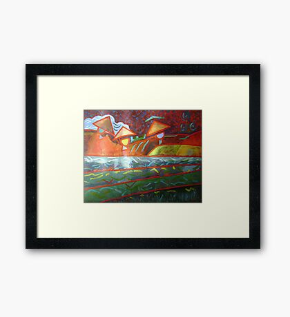 Paddy Workers - Sold Framed Print