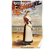 Poster 1890s Beautiful Evangeline performing arts poster 1896 Poster