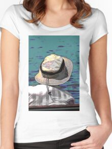 people on the beach Women's Fitted Scoop T-Shirt