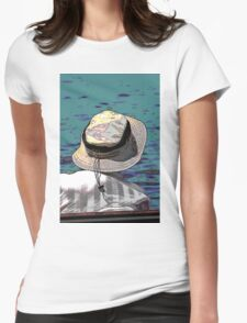 people on the beach Womens Fitted T-Shirt