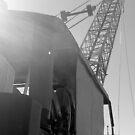 old crane by Evan Johnson