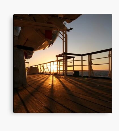 Cruising Sunset Canvas Print