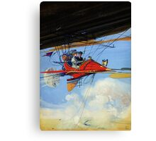 Futuristic air travel Vintage Poster Canvas Print