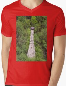 natural pyramids in the mountain Mens V-Neck T-Shirt