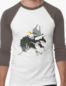 Wolf Link and Midna - Vector Art Men's Baseball ¾ T-Shirt