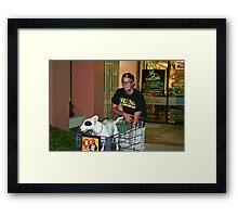 I like to shop. Framed Print