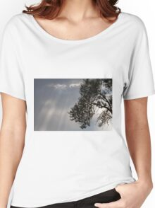 cloudy sky on the hilly Women's Relaxed Fit T-Shirt