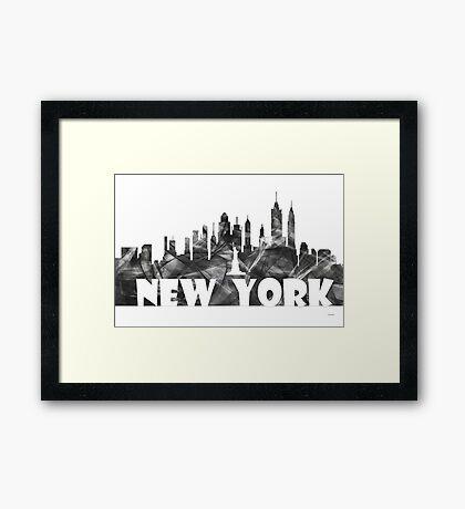 NEW YORK SKYLINE - BG2 Framed Print