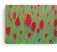 Twisted Tulips Canvas Print
