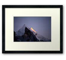 The Bhagirathi Mountains Framed Print