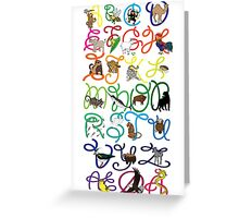 ABC poster Greeting Card