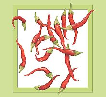 Red Hot Chillies green by Mariana Musa