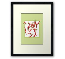 Red Hot Chillies green Framed Print