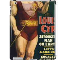 Poster 1890s Louis Cyr strongest man on earth 1898 iPad Case/Skin