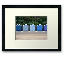 Blue Beach Huts Framed Print