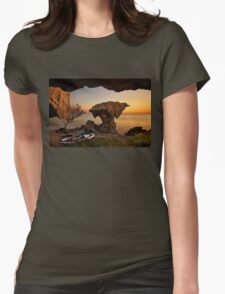 Safe from harm Womens Fitted T-Shirt