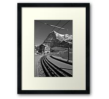 Kleine Sheidegg and The Mighty Eiger North Face Framed Print
