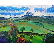 English Countryside Landscape Painting Photographic Print