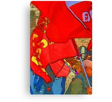 Up the workers! Canvas Print